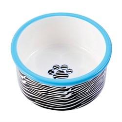 Миска керамическая для собак КерамикАрт Зебра - фото 14197