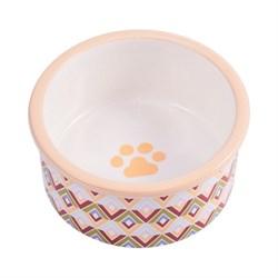 Миска керамическая для собак КерамикАрт с орнаментом - фото 14205