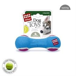 Игрушка для собак GIGWI Гантель с пищалкой - фото 14256