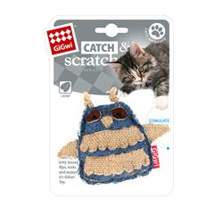 Игрушка GIGWI для кошек Сова с кошачьей мятой - фото 14262