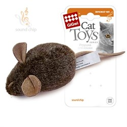 Игрушка GIGWI для кошек мышка с музыкальным механизмом - фото 14264