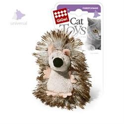 Игрушка GIGWI для кошек Ежик с погремушкой - фото 14266