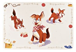 Коврик Trixie под миску Собака 56х38 см - фото 14278