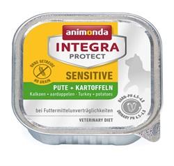 Консервы Animonda Integra Sensitive c индейкой и картофелем для кошек при пищевой аллергии - фото 14316