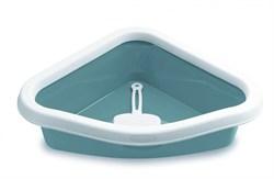 Туалет угловой Stefanplast Sprint Corner, с рамкой и совочком, 40*56*14 см - фото 14437