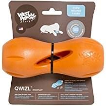 Игрушка особопрочная для собак Zogoflex гантеля под лакомства Qwizl - фото 14507