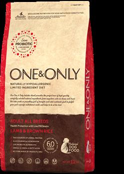 Сухой корм ONE&ONLY для взрослых собак всех пород с ягненком и рисом All Breeds Lamb/Rice - фото 14803