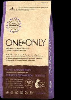 Сухой корм ONE&ONLY для взрослых собак крупных пород с индейкой и рисом Adult Maxi Turkey/Rice - фото 14819