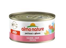 Консервы ALMO NATURE HFC Jelly Adult Cat Salmon для взрослых кошек с лососем - фото 14876