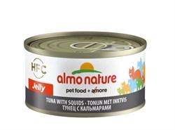 Консервы ALMO NATURE HFC Jelly Adult Cat Tuna Squids для взрослых кошек с тунцом и кальмарами - фото 14880