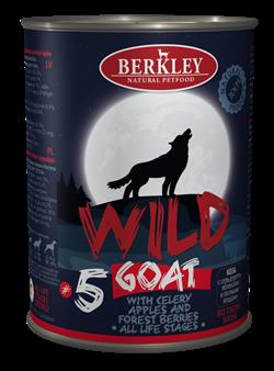 Консервы BERKLEY WILD COAT № 5 для щенков и собак Коза с сельдереем, яблоками и лесными ягодами - фото 14942