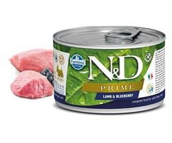 Консервы FARMINA ND DOG PRIME LAMB/BLUEBERRY MINI для взрослых собак малых пород с ягненком и черникой - фото 14980