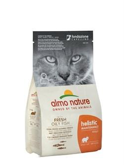 Сухой корм ALMO NATURE Adult Cat White Fish and Rice для взрослых кошек с жирной рыбой и рисом - фото 15106
