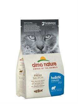 Сухой корм ALMO NATURE Functional – Adult Sterilized Salmon and Rice для кастрированных кошек с лососем и рисом - фото 15109