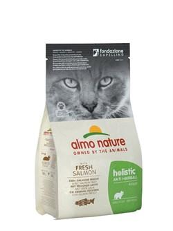 Сухой корм ALMO NATURE Functional Adult Anti-Hairball Fish and Rice для взрослых кошек контроль вывода шерсти с рыбой и рисом - фото 15111