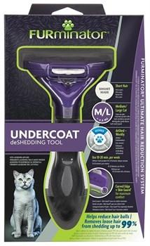 FURminator M/L для кошек весом больше 4,5 кг с короткой шерстью (FUR Cat Undercoat M/L Short Hair) - фото 15122