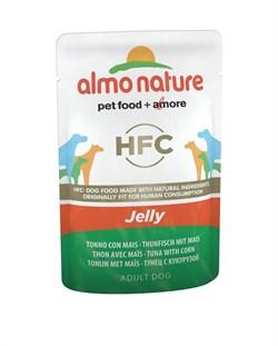 Пауч ALMO NATURE Classic Jelly Tuna and Sweet Corn для собак тунец и сладкая кукуруза в желе - фото 15175