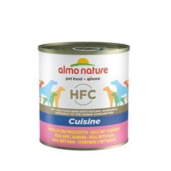 Консервы ALMO NATURE для взрослых собак с телятиной и ветчиной Classic Veal Ham