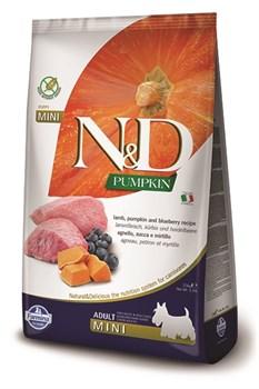 Беззерновой cухой корм FARMINA ND для взрослых собак мелких пород с ягненком с черникой и тыквой - фото 15236