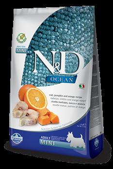 Беззерновой cухой корм FARMINA ND OCEAN для взрослых собак малых пород рыба с апельсином и тыквой - фото 15240