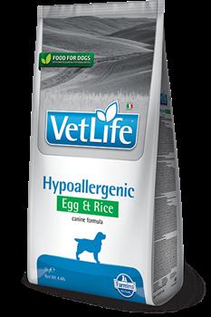 """Сухой корм FARMINA VET LIFE Hypoallergenyc для собак диета при пищевой аллергии """"Яйцо и рисом"""" - фото 15267"""