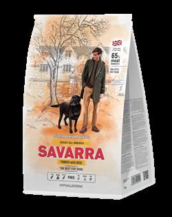 Сухой корм Savarra Adult All Breed Turkey/Rice для собак всех пород с индейкой и рисом - фото 15282