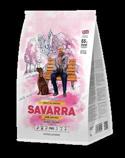 Сухой корм Savarra Adult All Breed Lamb/Rice для собак всех пород с ягненком и рисом - фото 15283