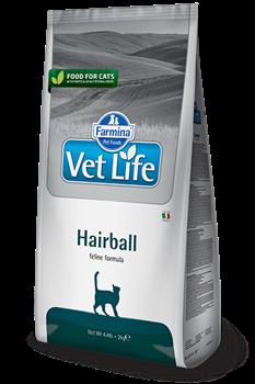 Сухой корм FARMINA VET LIFE Hairball для кошек диета выведения шерстяных комочков - фото 15309