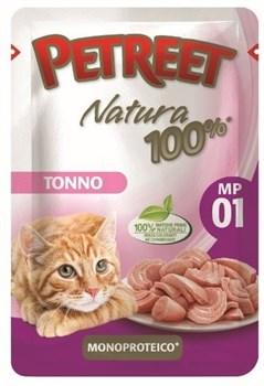 Пауч PETREET для взрослых кошек с тунцом - фото 15406