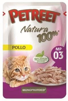 Пауч PETREET для взрослых кошек с курицей - фото 15407