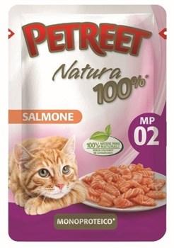 Пауч PETREET для взрослых кошек с лососем - фото 15408