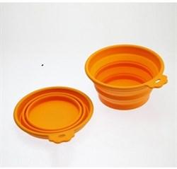 Миска силиконовая складная SuperDesign оранжевая - фото 15570