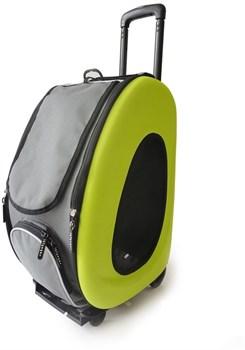 Складная многофункционая переноска Ibiyaya 3 в 1 для собак и кошек до 8 кг (сумка, рюкзак, тележка) 58 х 30 х 34 см - фото 15673