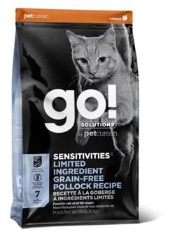 Беззерновой сухой корм GO! NATURAL Holistic для котят и кошек с чувствительным пищеварением с минтаем - фото 15729