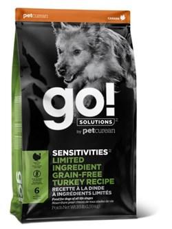 Беззерновой сухой корм GO! NATURAL для щенков и взрослых собак с индейкой для чувствительного пищеварения - фото 15730