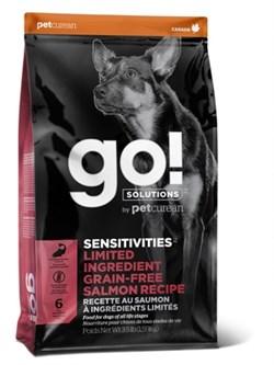 Беззерновой сухой корм GO! Sensitivity + Shine Salmon Dog Recipe Grain Free Potato Free для щенков и собак с лососем для чувствительным пищеварением - фото 15732