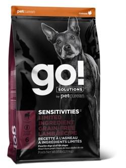 Беззерновой сухой корм GO! Limited Ingredient Lamb Recipe Dog Grain Free для щенков и взрослых собак с ягненком для чувствительного пищеварения - фото 15734