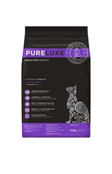 Беззерновой сухой корм PURELUXE для взрослых кошек с индейкой и чечевицей - фото 15769
