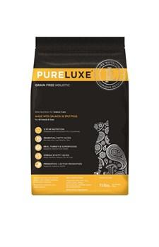 Беззерновой сухой корм PURELUXE для взрослых кошек с индейкой, лососем и горошком - фото 15777