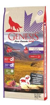 Беззерновой сухой корм Genesis Pure Canada для собак с мясом кабана, оленя и курицы с повышенной влажностью (Wild Taiga Soft) - фото 15903