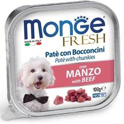 Паштет MONGE Fresh для собак с говядиной - фото 15960