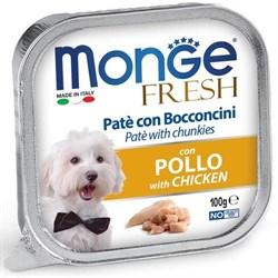 Паштет MONGE Fresh для собак с курицей - фото 15961