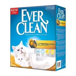 Комкующийся наполнитель EVER CLEAN LitterFree Paw для идеально чистых лап д/длинношерстных кошек (Less Trail оранжевая полоса) - фото 16347