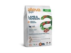Беззерновой сухой корм Alleva Holistic для взрослых кошек с ягненком и олениной (Lamb & Venison Adult Cat) - фото 16387