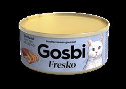 Консервы GOSBI FRESKO для стерилизованных кошек с филе тунца и креветками - фото 16541