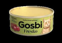 Консервы GOSBI FRESKO для стерилизованных кошек с тунцом и яблоком - фото 16542