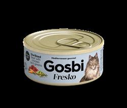 Консервы (паштет) GOSBI FRESKO для стерилизованных кошек с говядиной курицей и овощами - фото 16549