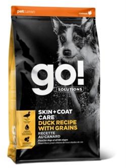 Сухой корм GO! NATURAL для щенков и взрослых собак с цельной уткой и овсянкой