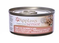 Консервы APPLAWS для пожилых кошек с тунцом и лососем в желе Senior Cat Jelly Tuna/Salmon - фото 16750