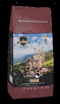 Сухой корм LANDOR для стерилизованных кошек с кроликом и рисом Sterilized / Light Cat Rabbit with Rice - фото 16884